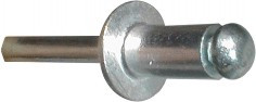 Blind rivet with mandrel